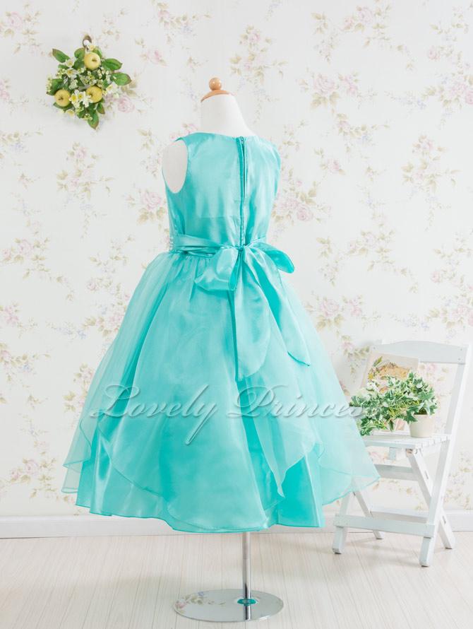 結婚式子供用ドレス ステファニー グリーン