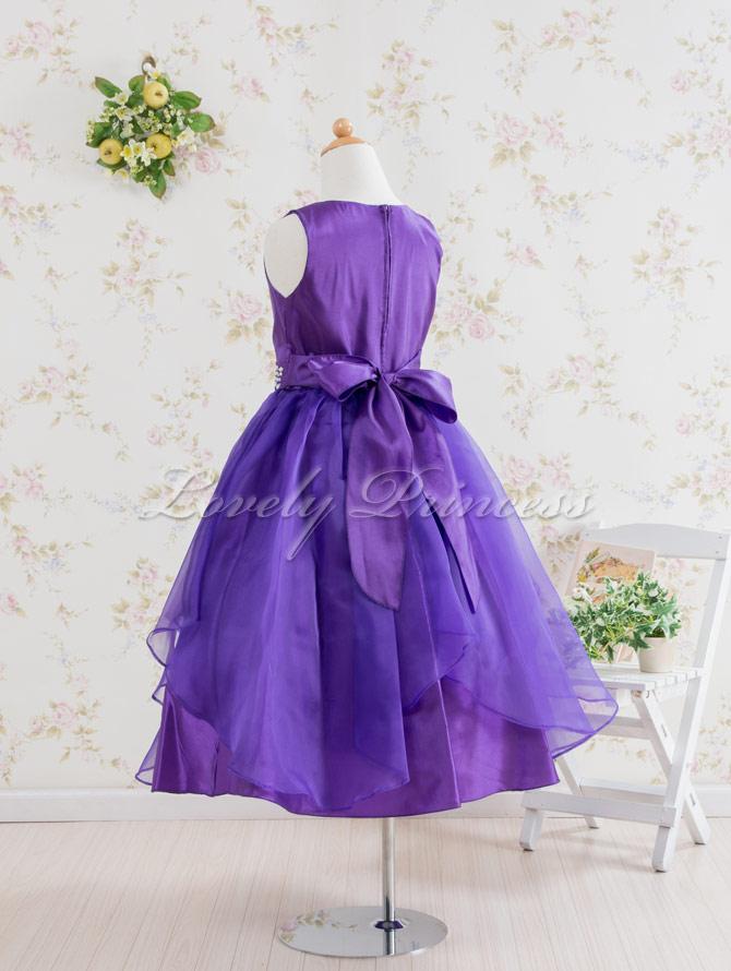 結婚式子供用ドレス ステファニー パープル