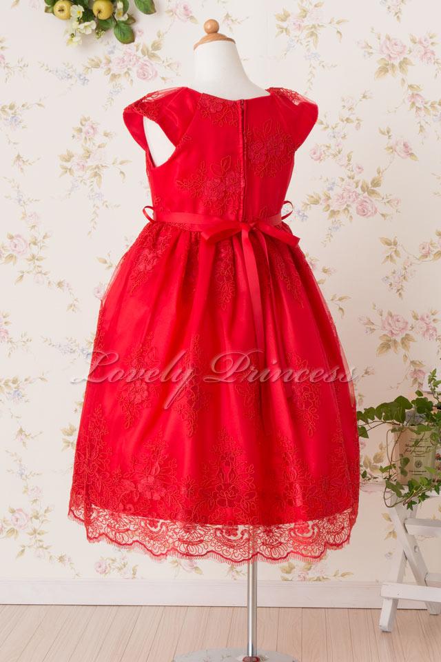 結婚式子供用ドレス エミリー レッド
