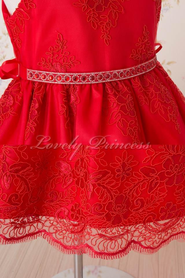 ピアノ子供用ドレス エミリー レッド