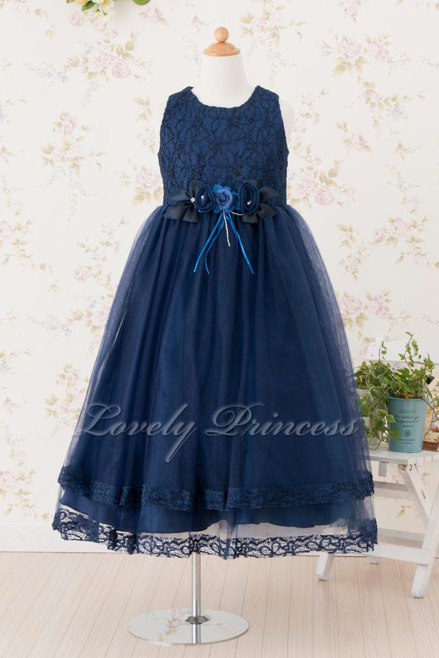 子供ドレス ヴァイオレット ネイビー