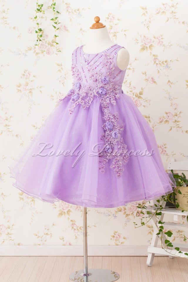 結婚式子どもドレス 子どもドレス(CC9022-L) ライラック