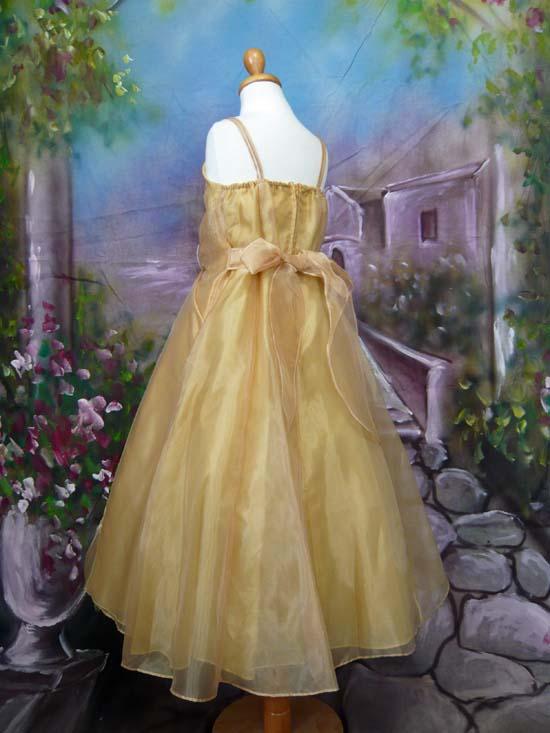 子供ドレス パピヨン ゴールド