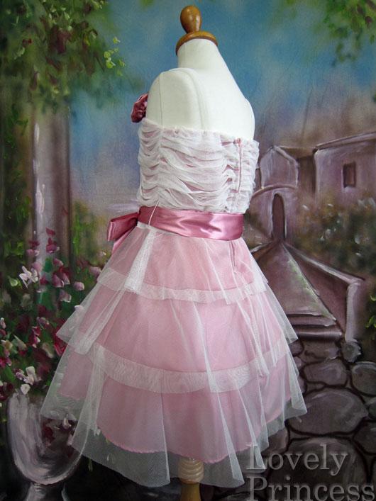 子供用ドレス リズ ローズピンク