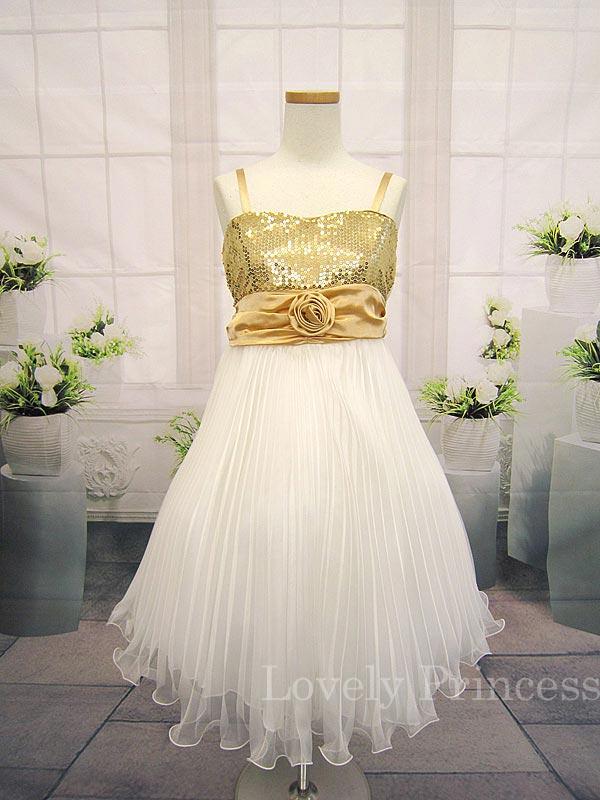 子供ドレス ビバリー ゴールド