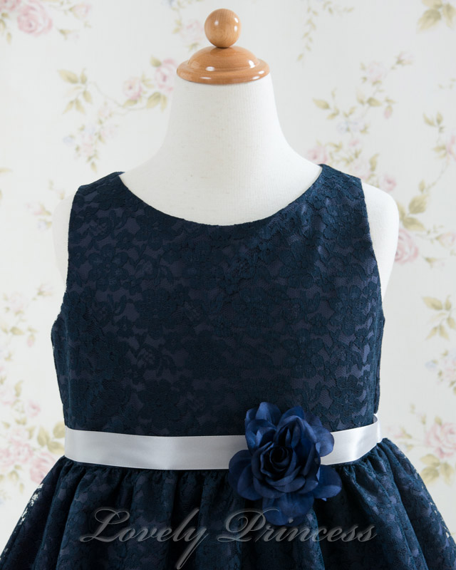子供ドレス エチュード ネイビー