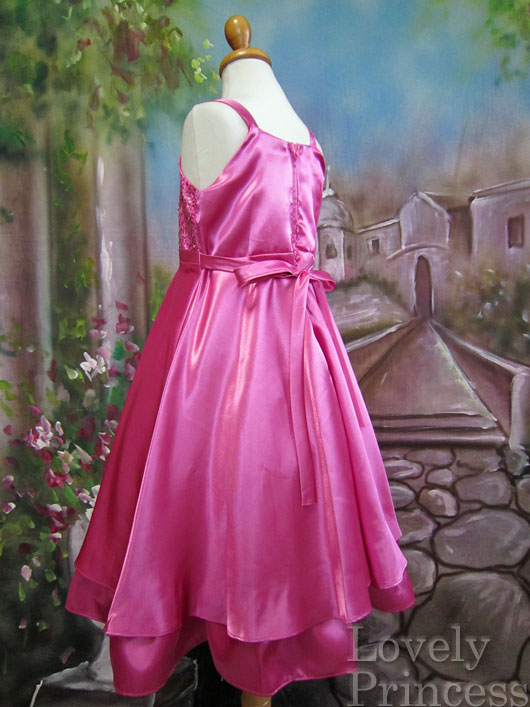 子供ドレス フラニー フューシャ