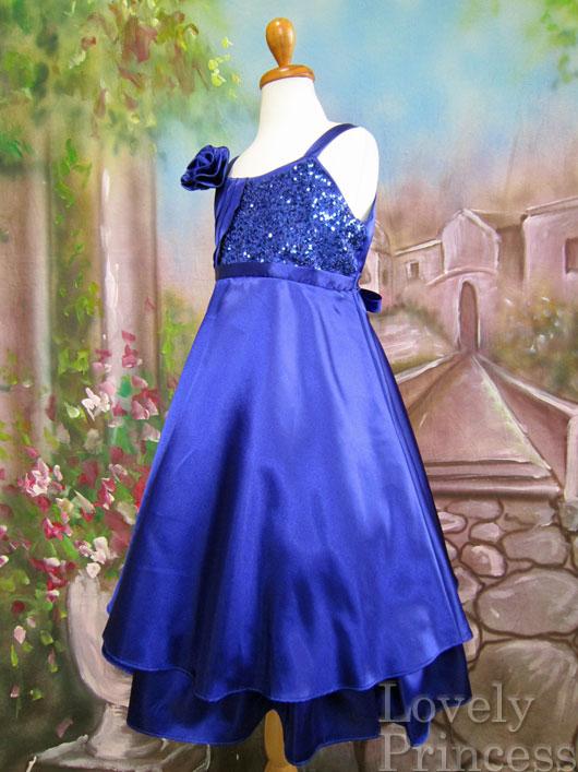 子供ドレス フラニー ロイヤルブルー