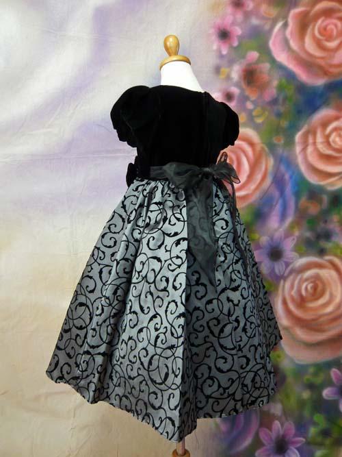 子供ドレス グレース ブラック/グレー