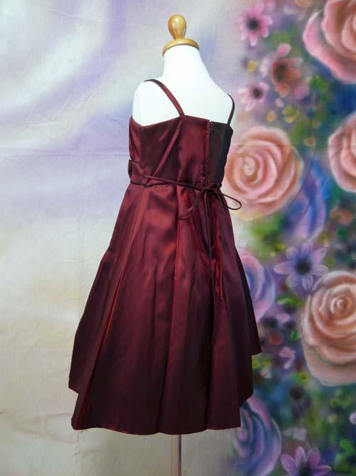 子供ドレス ローラ バーガンディ