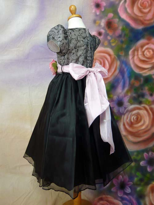 子供ドレス シャルロット ブラック