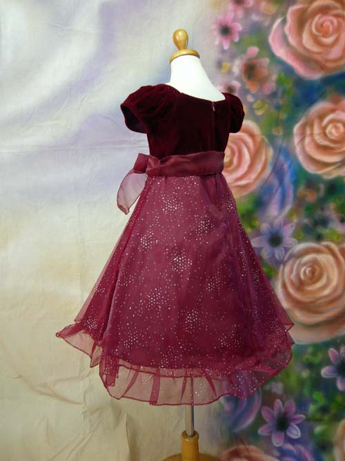 子供ドレス ジェシカ バーガンディ