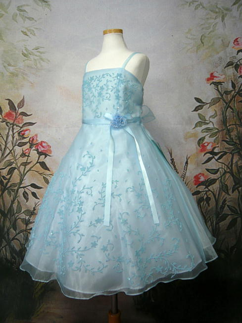 子供ドレス セシル ブルー3