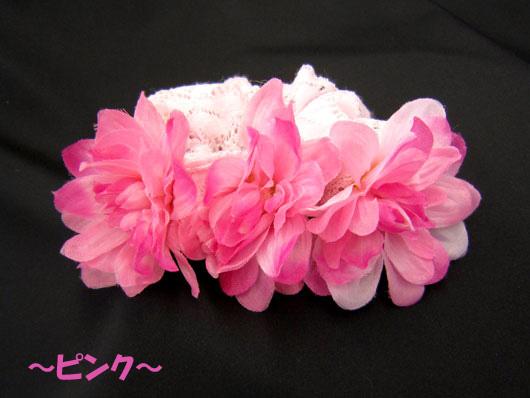 フラワーシュシュ(FL09-03) ピンク