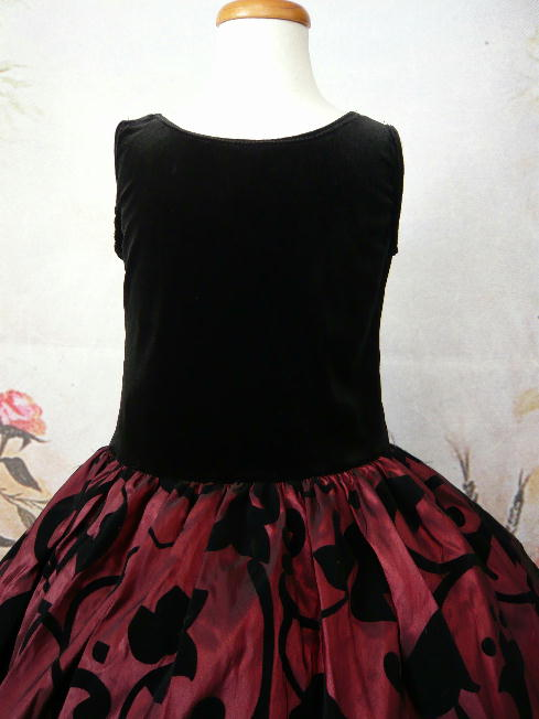 子供ドレス ジェニファ ブラック/バーガンディ