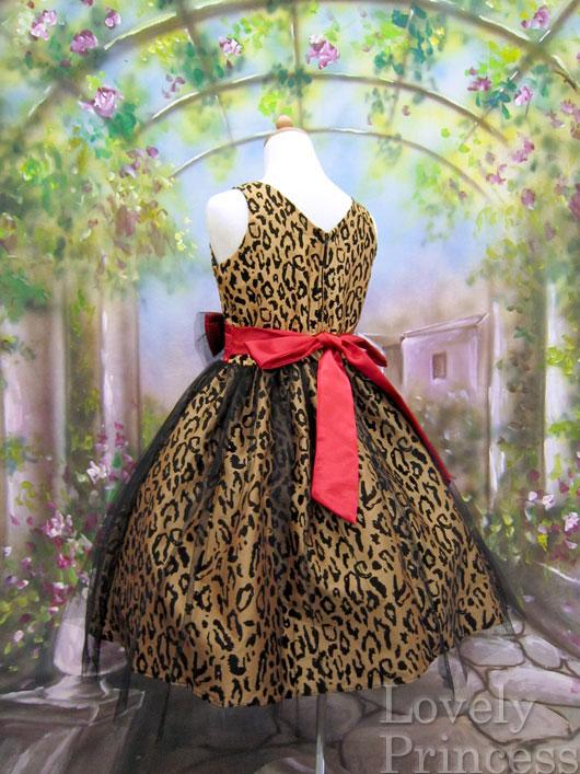 アニマル柄の子供ドレス コートニー ゴールド