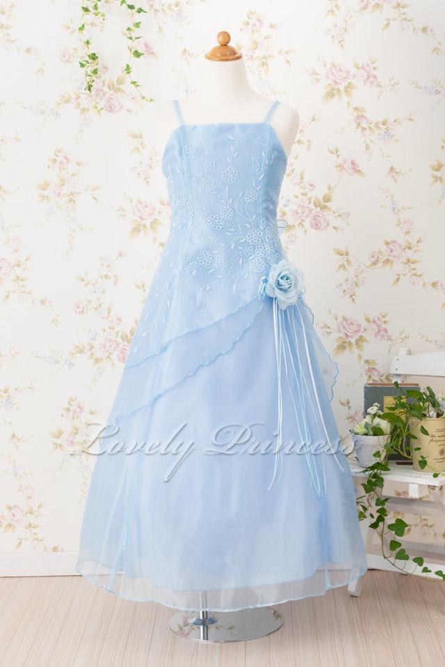 子供のドレス リンダ ブルー