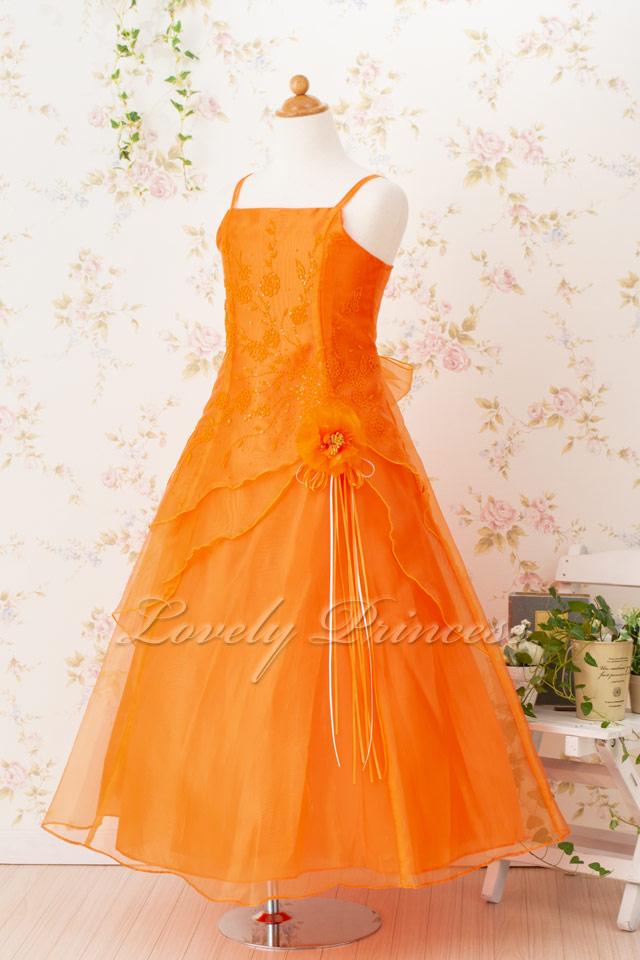 子供ドレス リンダ オレンジ