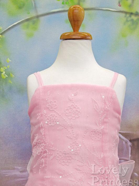 ピンクの子供ドレス リンダ ピンク