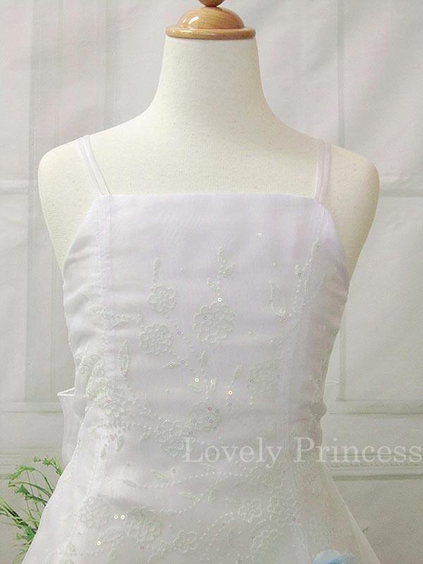 子供のドレス リンダ ホワイトブルー