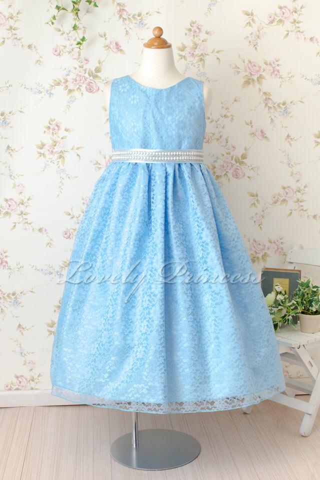 子供ドレス  マリオン ブルー