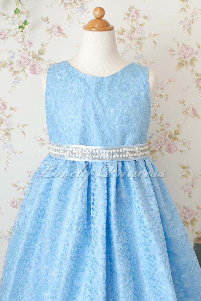 子供用ドレス マリオン ブルー