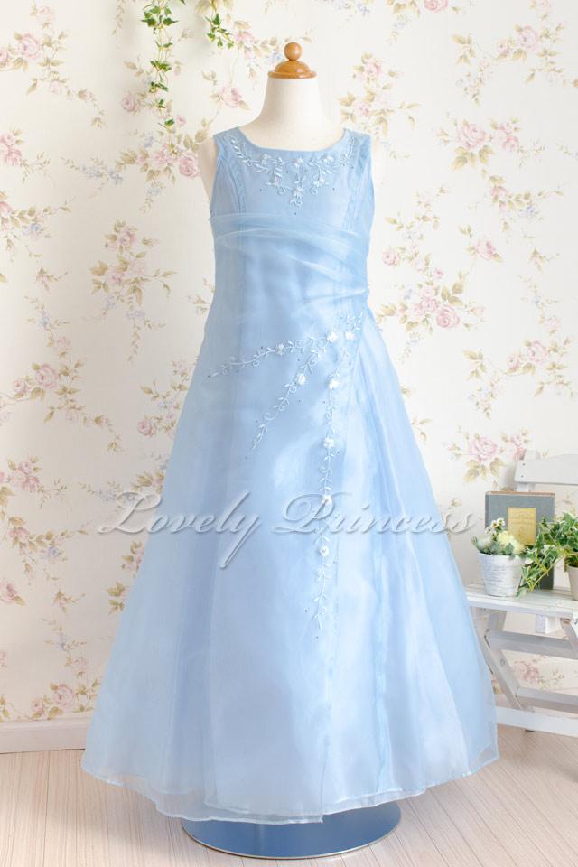 子供結婚式ドレス ジョゼフィーヌ ブルー