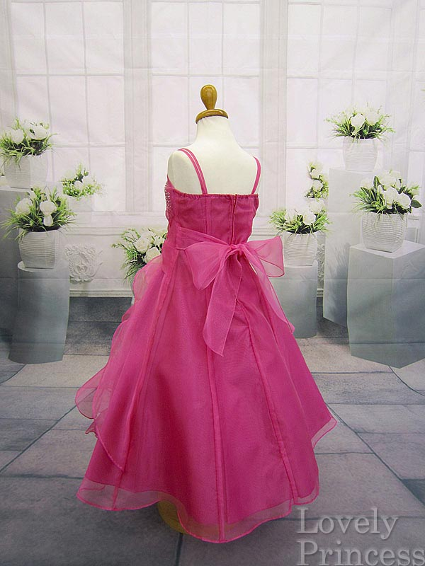 コンクール子供ドレス マドレーヌ フューシャ