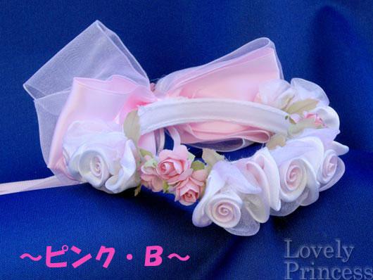 フラワーリース ピンク