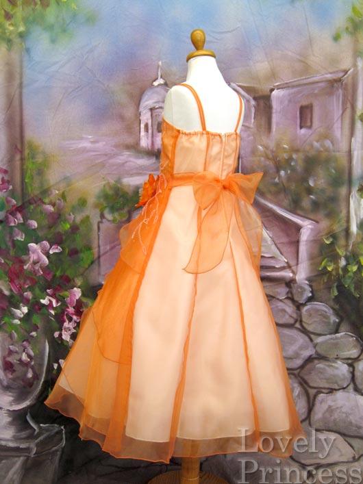 子供ドレス ジュリアン オレンジ