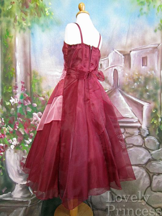 子供ドレス ルイーズ バーガンディ