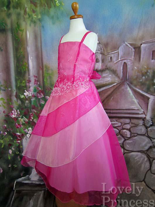子供ドレス ルイーズ フューシャ