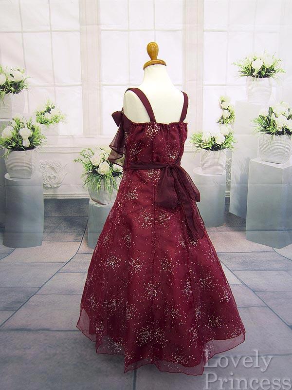 子供ドレス シンディ バーガンディ