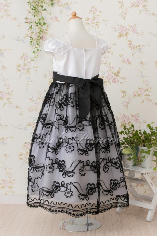 子供ドレス ラナ ホワイト&ブラック