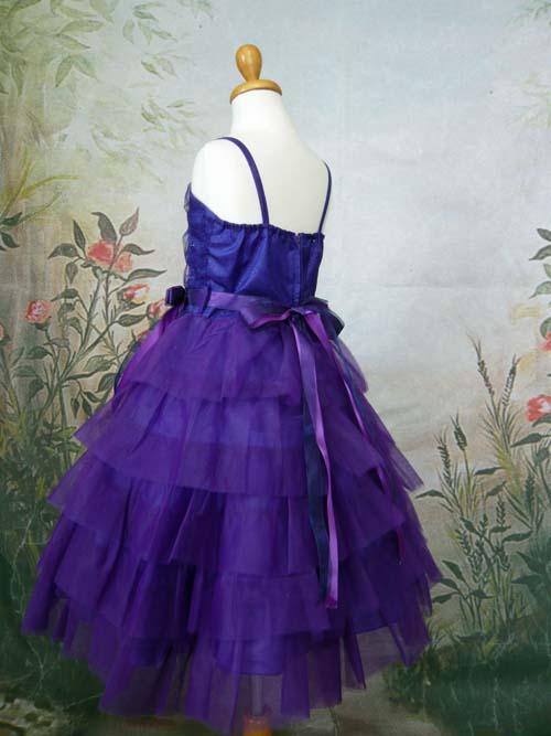 子供ドレス レスフィーナ パープル