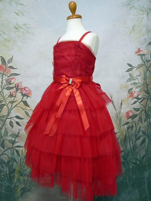 子供ドレス レスフィーナ レッド