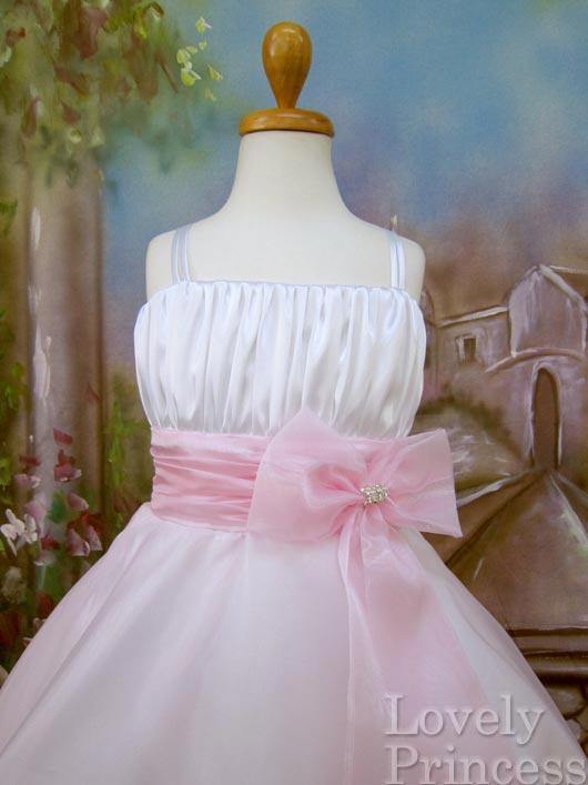 子供ドレス ノーラ ホワイトピンク