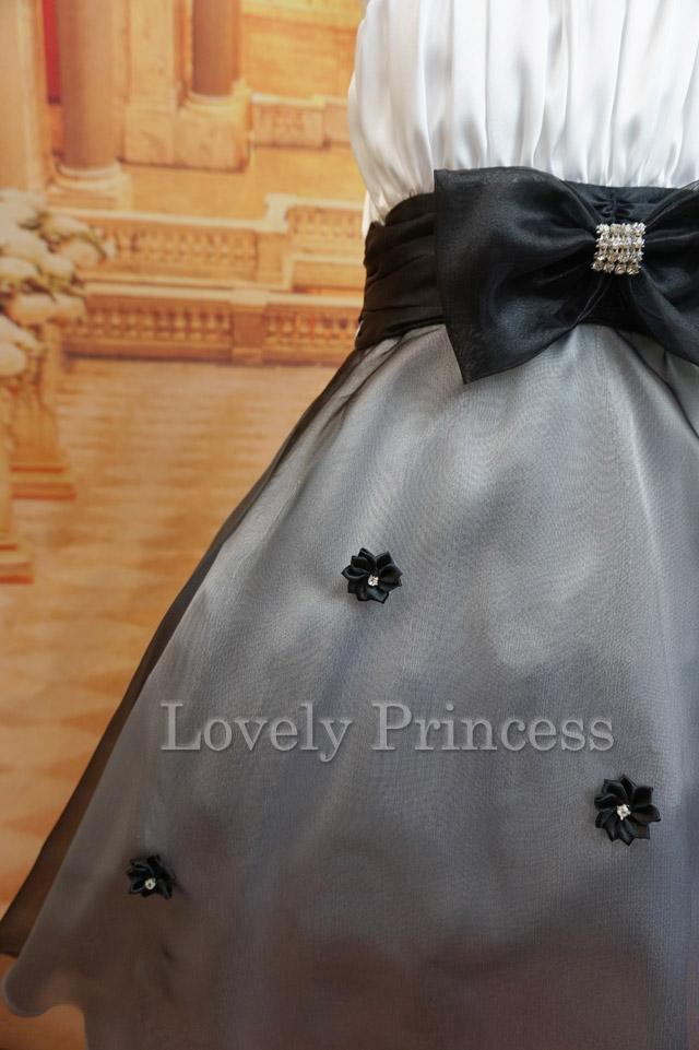 子供ドレス リズ ホワイトブラック