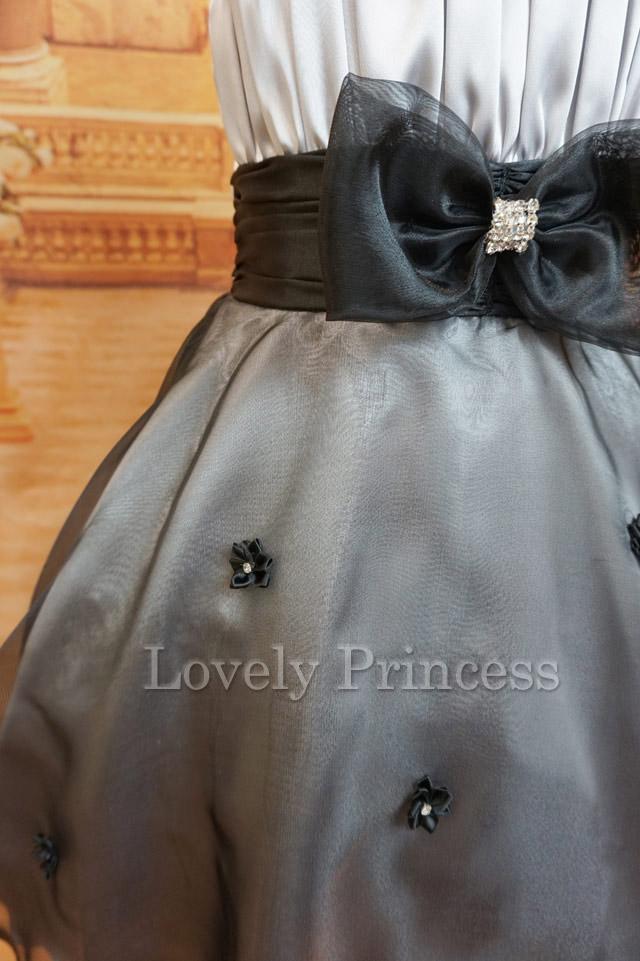 子供ドレス リズ シルバーブラック