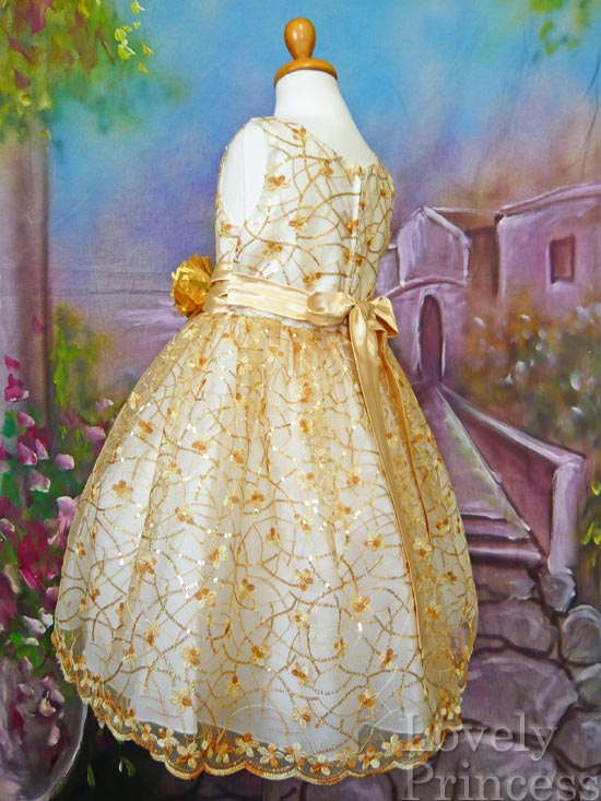子供ドレス コレット ゴールド