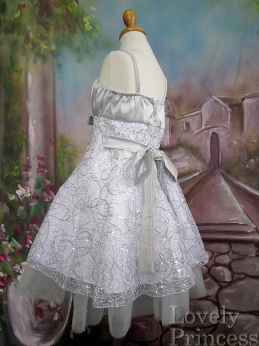 子供用ドレス アラーナ シルバー