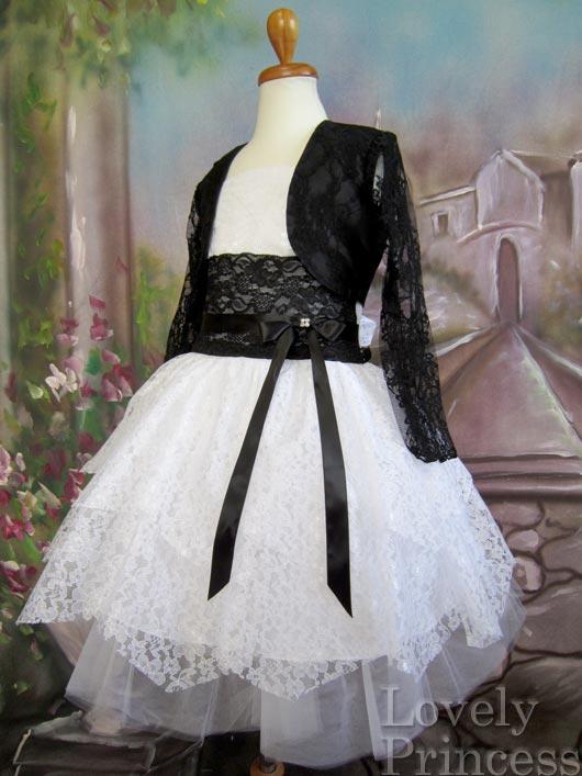 子供用ドレス エリザベス ホワイトブラック