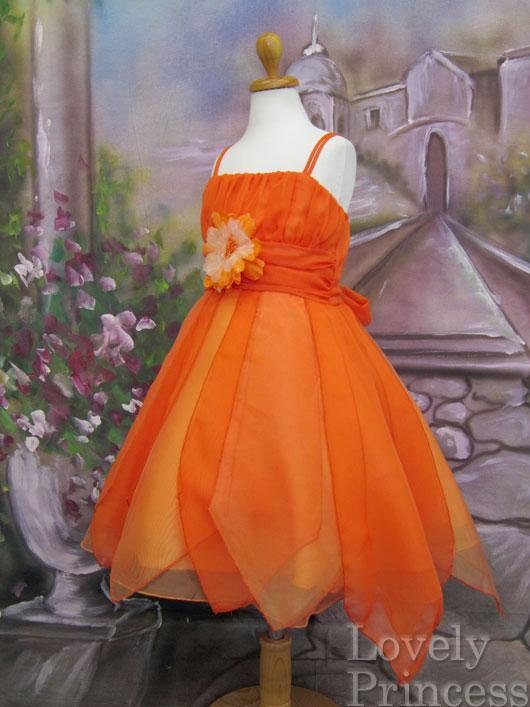 子供ドレス リアン オレンジ