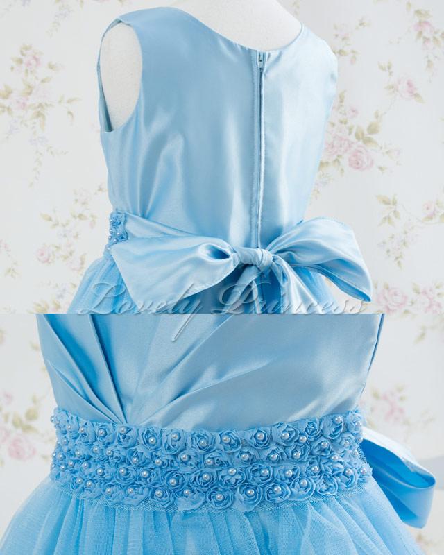 結婚式子供ドレス・ジュニアドレス アナベル ブルー