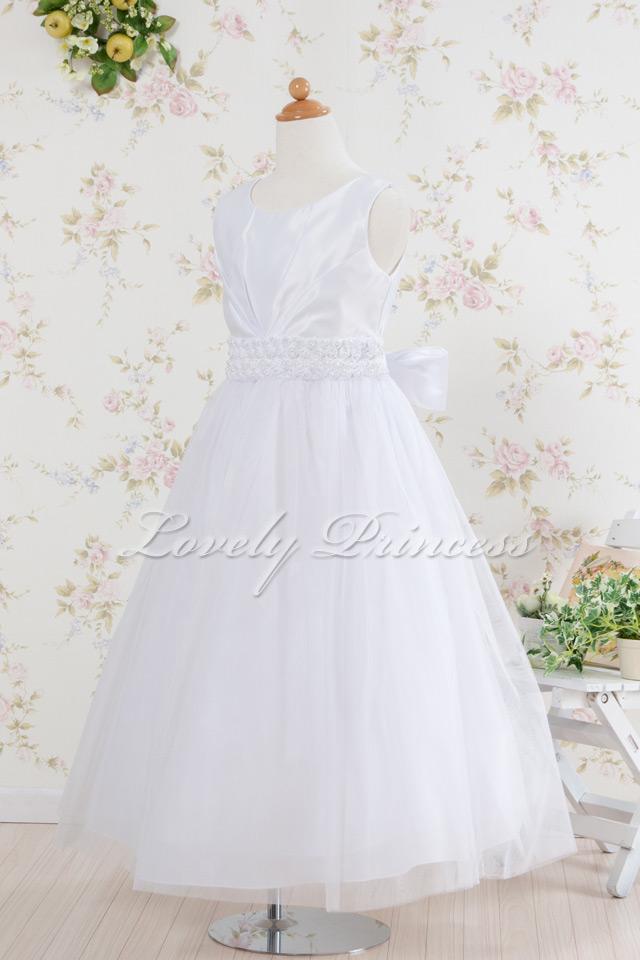 コンクール子供ドレス・ジュニアドレス アナベル ホワイト