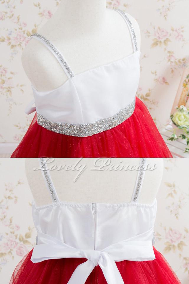 ステージ衣装子供ドレス・ジュニアドレス ジゼル レッド