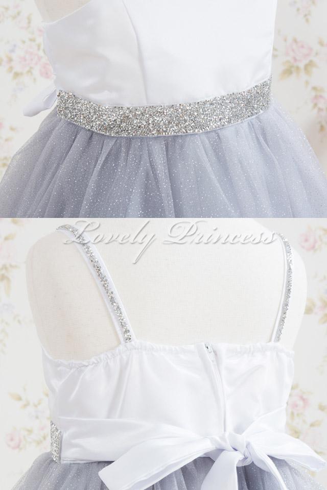 ステージ衣装子供ドレス・ジュニアドレス ジゼル シルバー