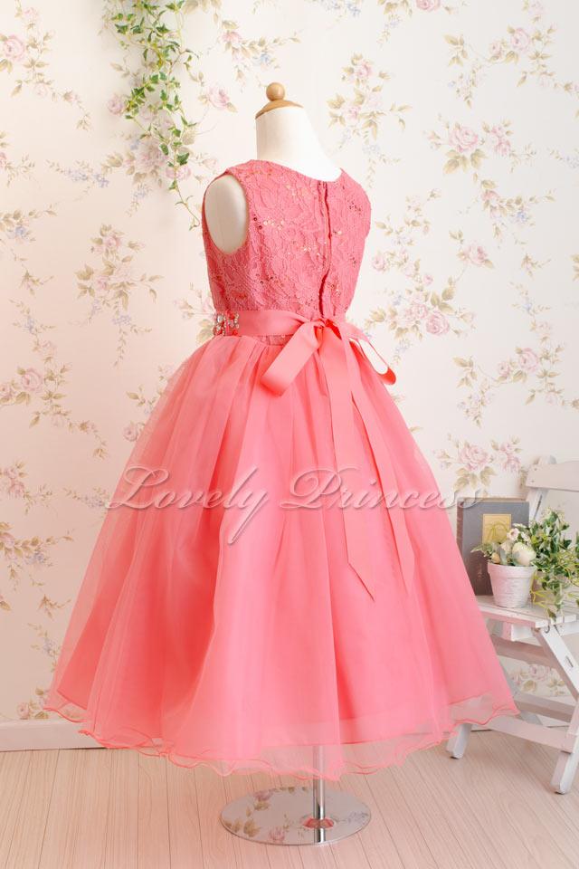 結婚式子供ドレス サフラン コーラル