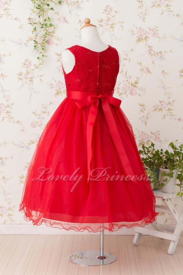 結婚式子供ドレス サフラン レッド