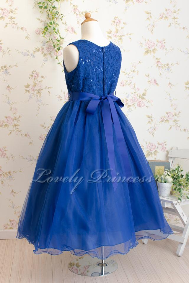 結婚式子供ドレス サフラン ロイヤルブルー